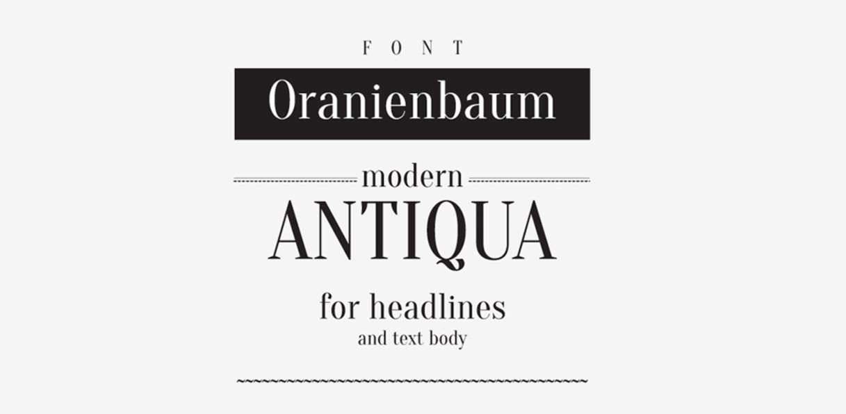 Free Download: Oranienbaum Typeface