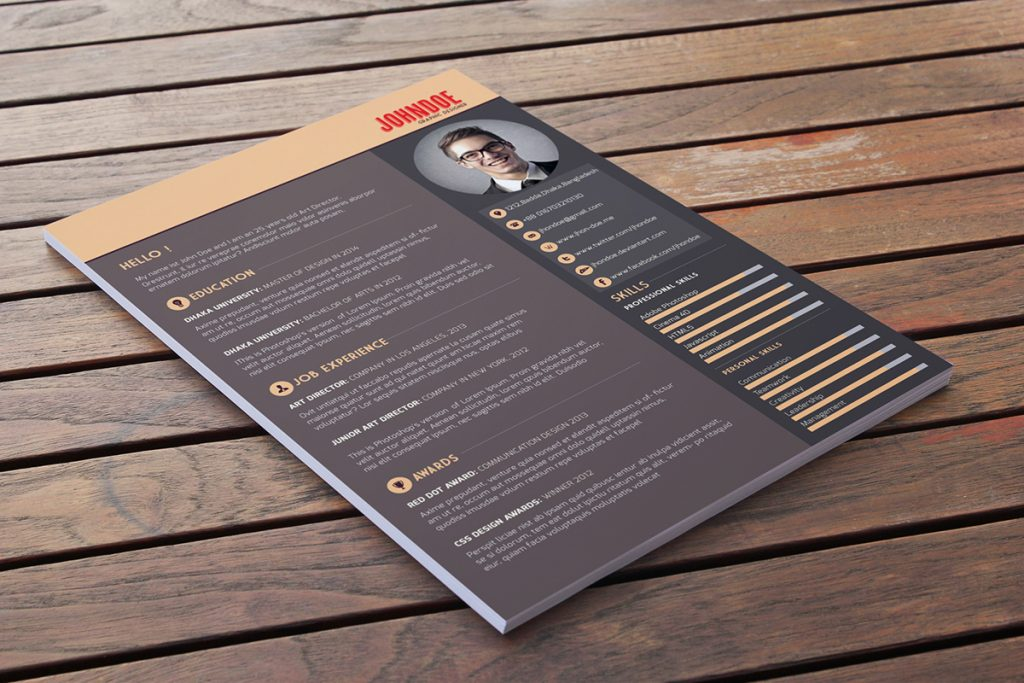 Free download free resume template webdesigner depot yelopaper Images