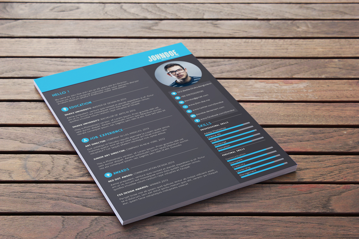 Free Download Free Resume Template  Webdesigner Depot