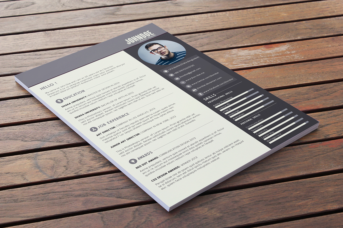 Download This Résumé Template For Free. R4 R3 R2 R1