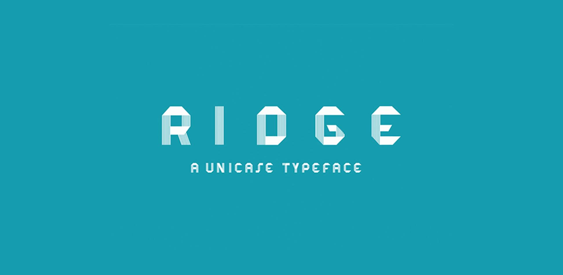 Free download: RIDGE Typeface