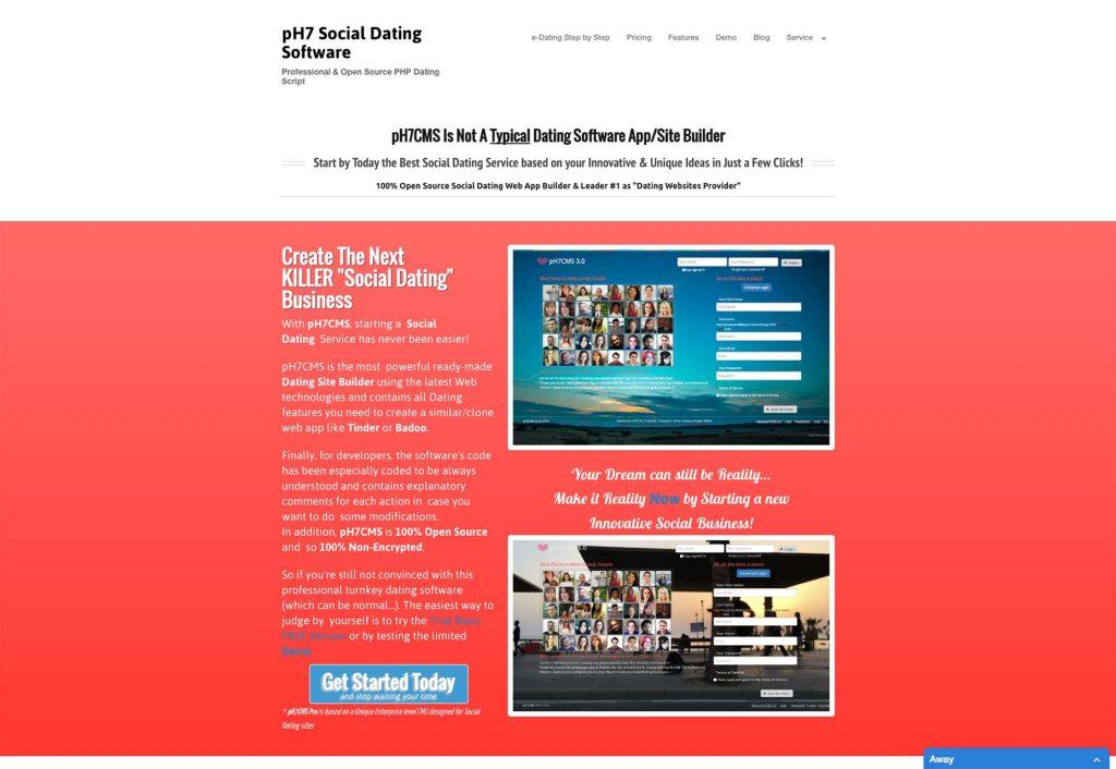 Dating site design software