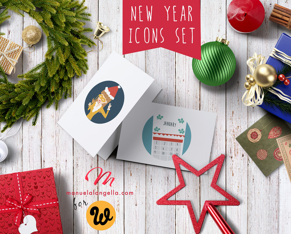 Free Download: New Year Icons Set