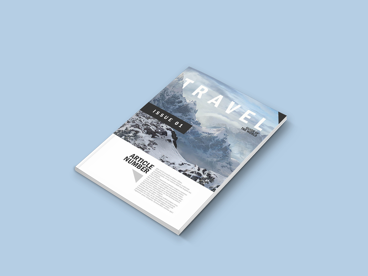 Free Download  Magazine Mockup Template