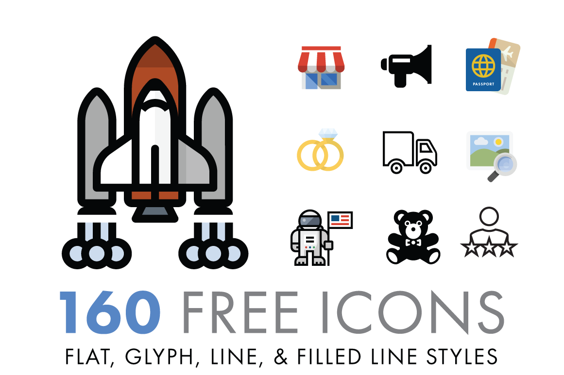 Free Download: 160 Icons from VectorIcons