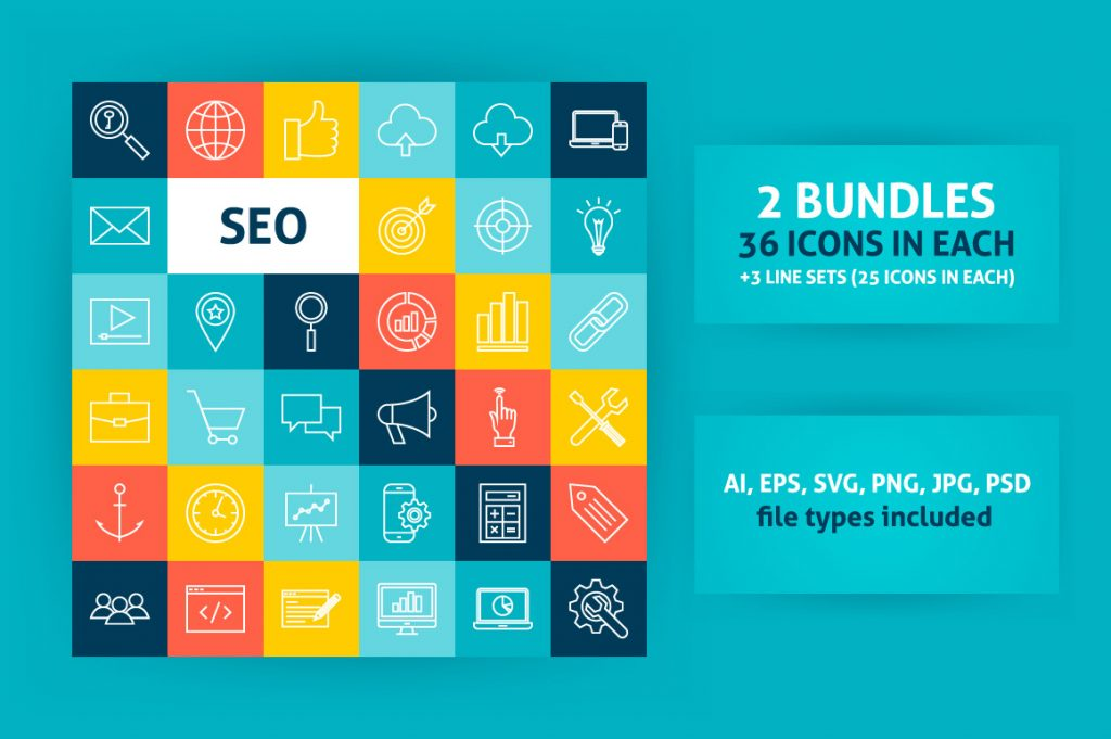 Free Download: SEO Line Art Icons