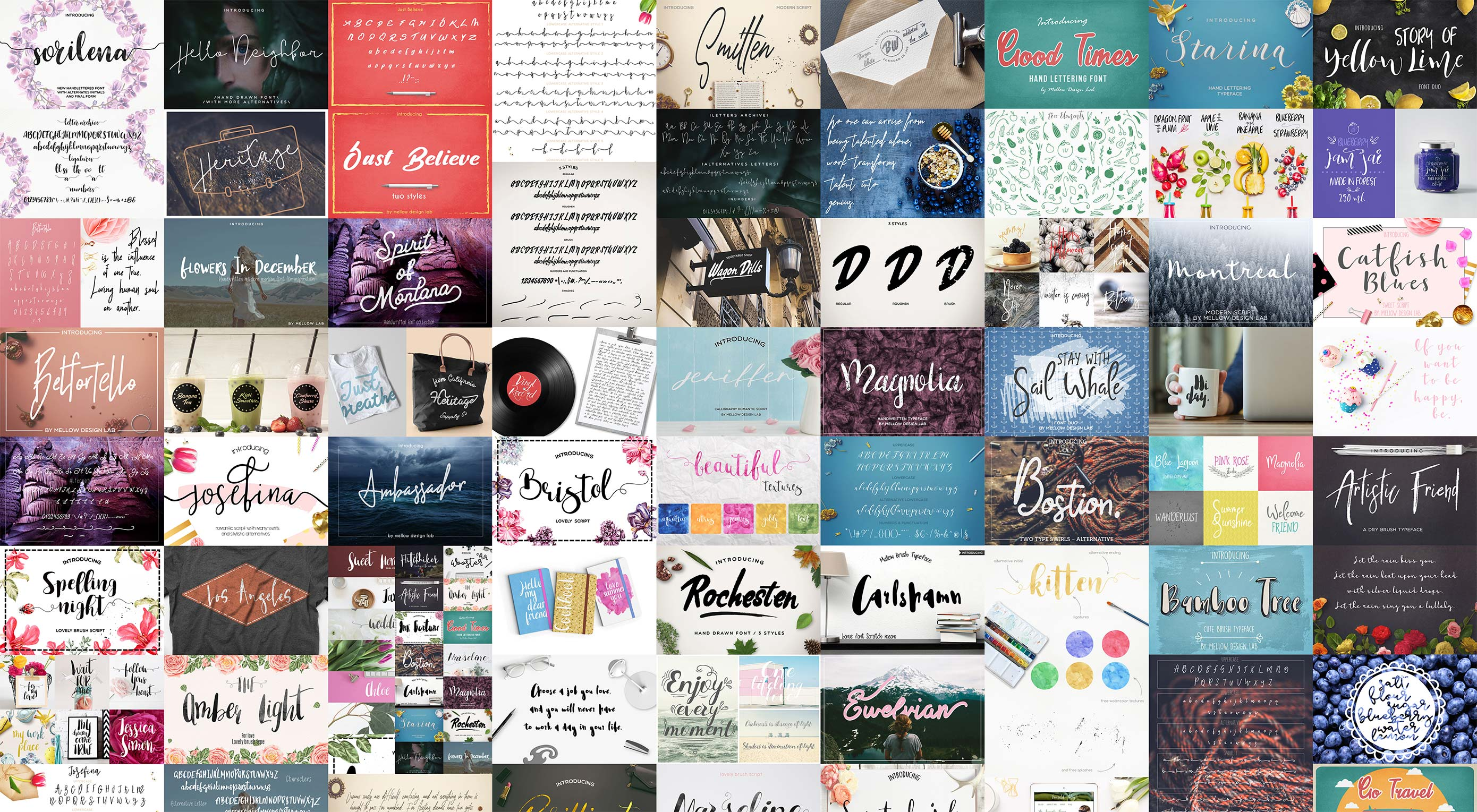 Deal: 42 professional fonts from Mellow Design Lab