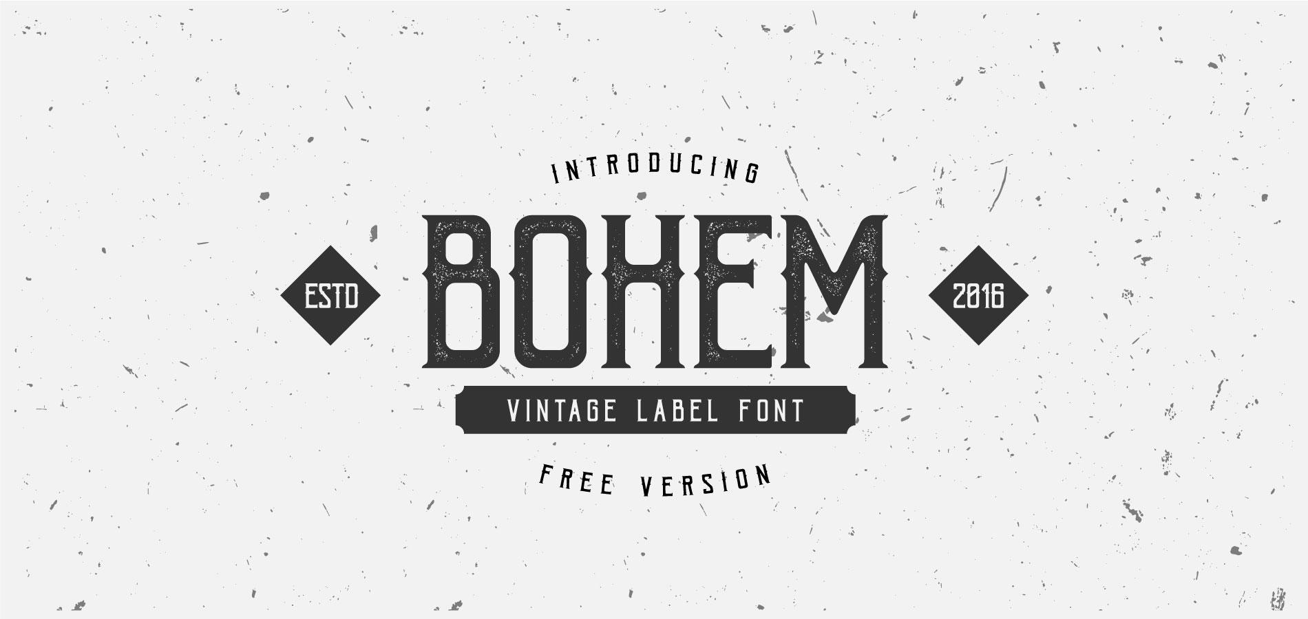 Free Download: Bohem Font