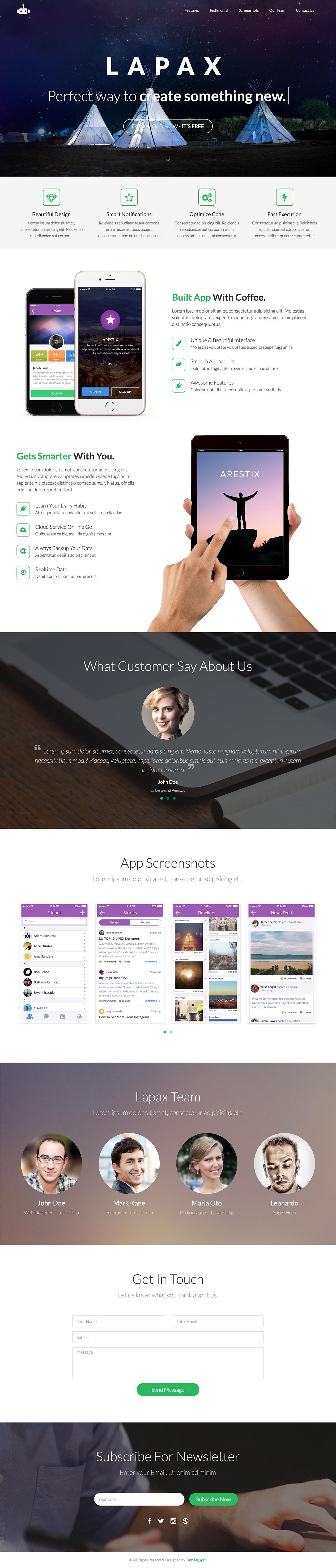 [HTML] Lapax – App Landing Page – HTML  Lapax-html