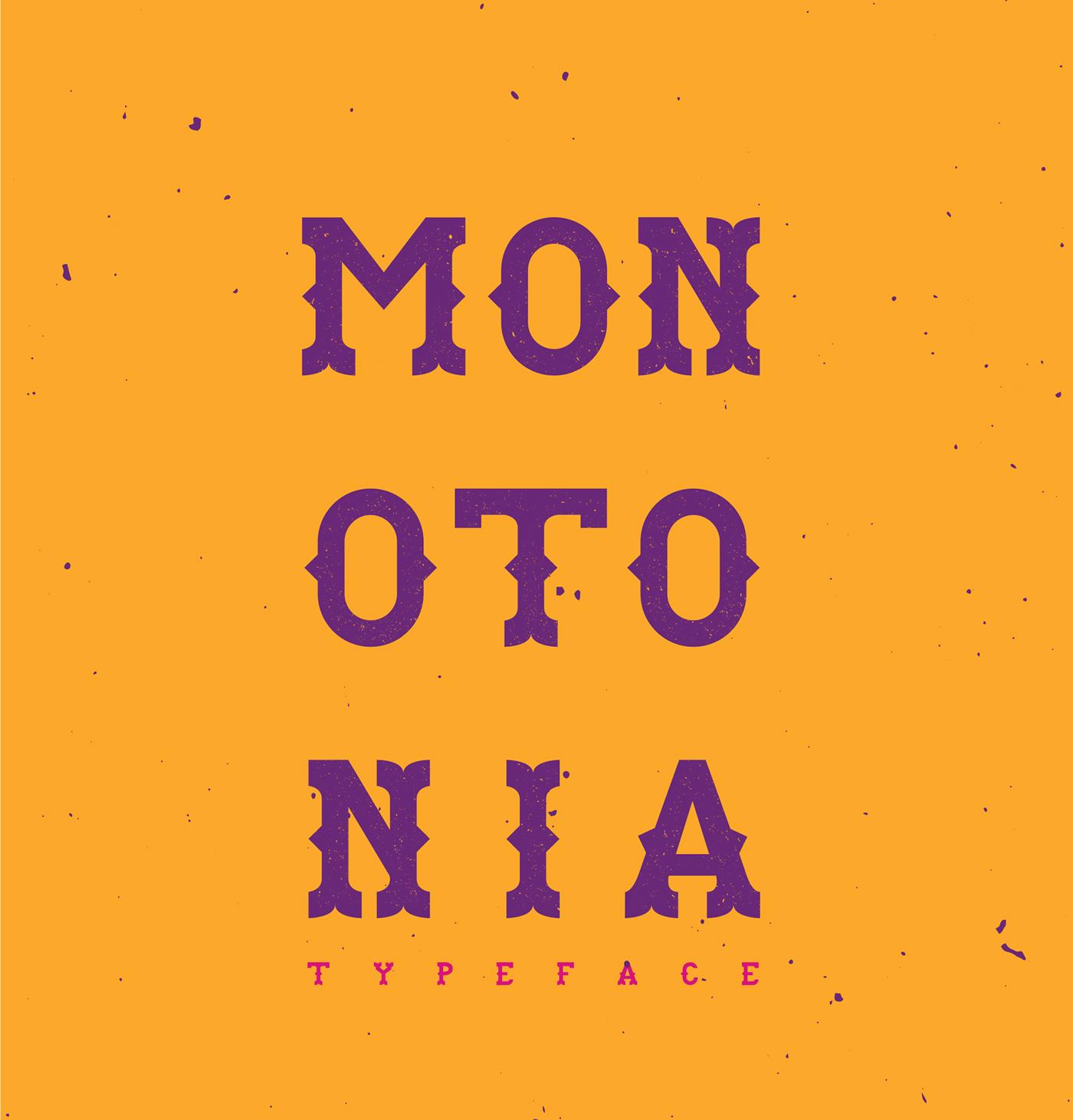 Free Download: Monotonia Typeface