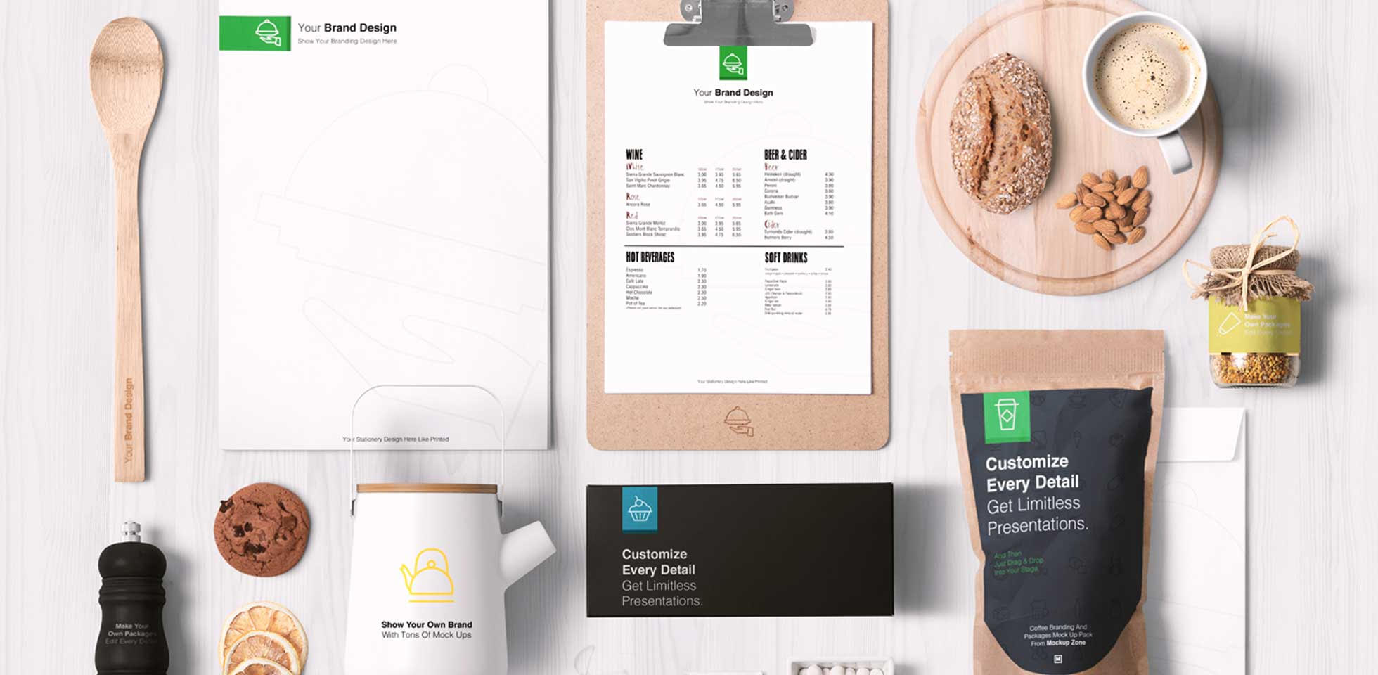 Free Download: Coffee Mockup Pack