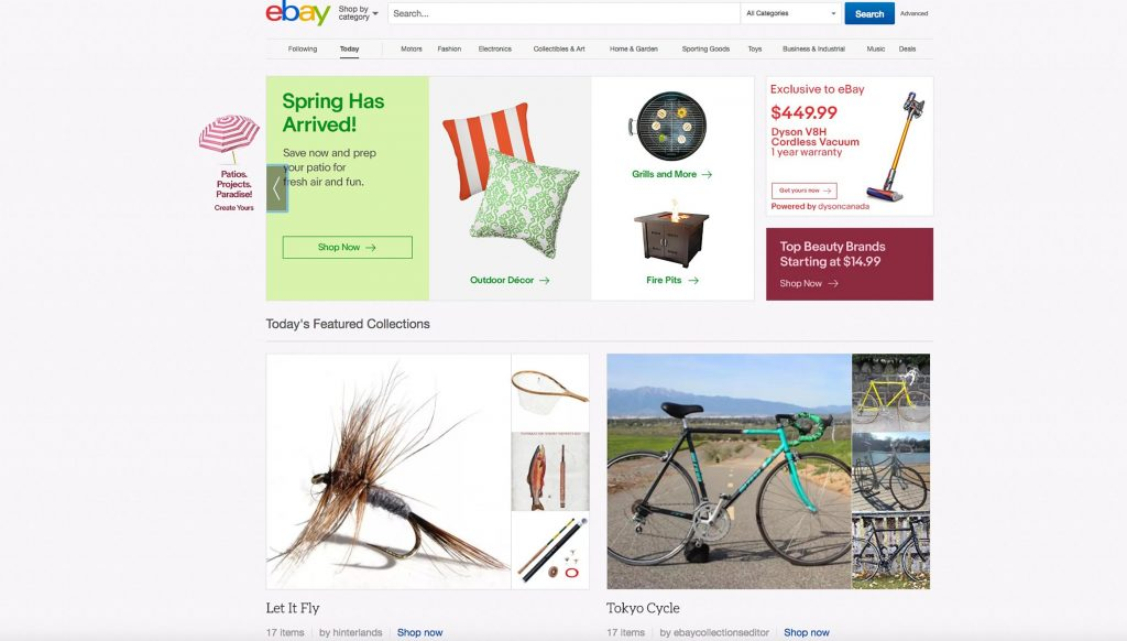 eBay Redesigns Its Homepage (Again)