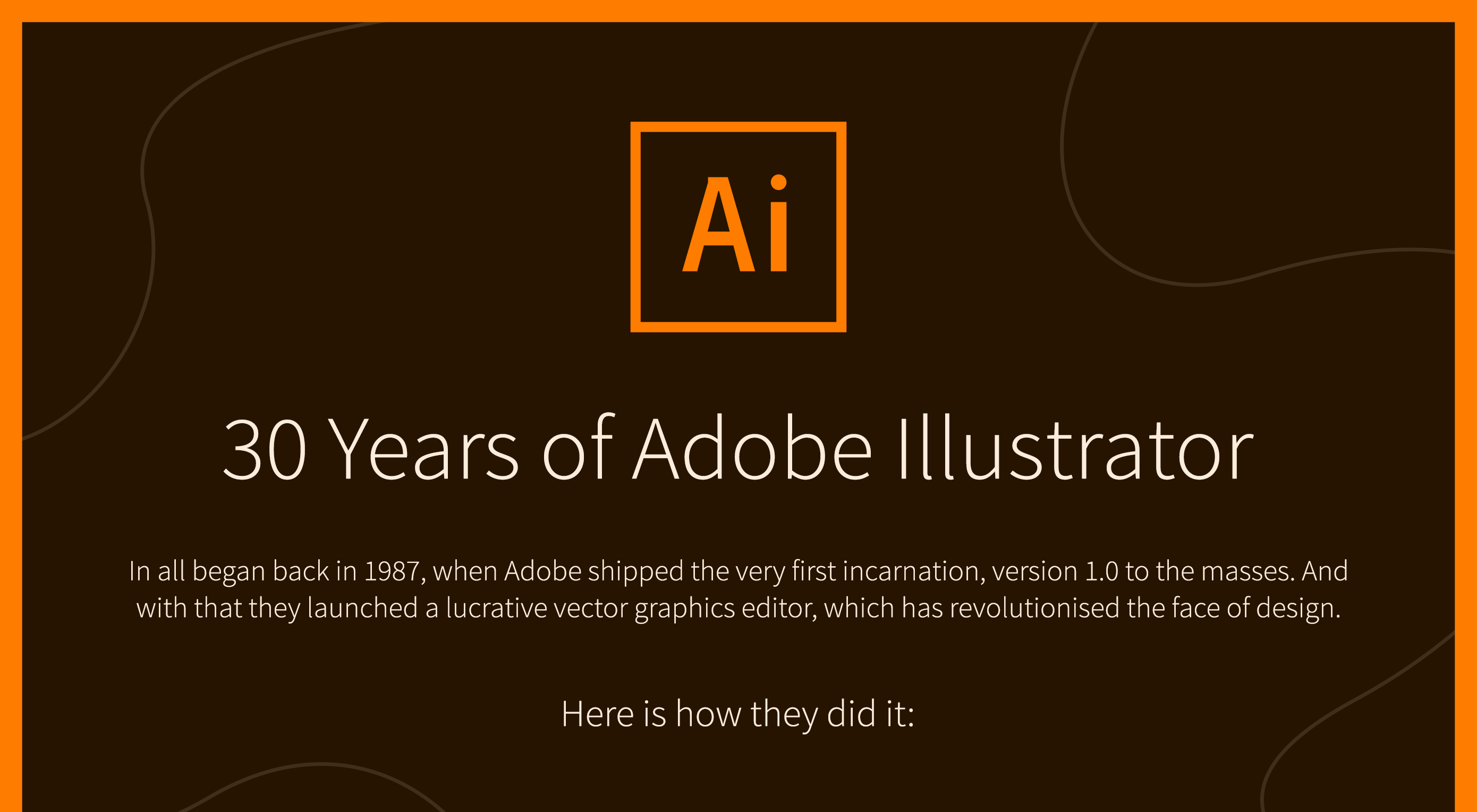 Infographic: Adobe Illustrator reaches 30