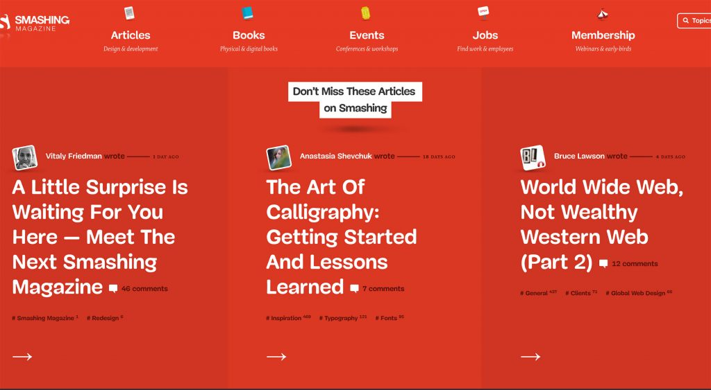 Smashing Magazine Embarks on Radical Redesign