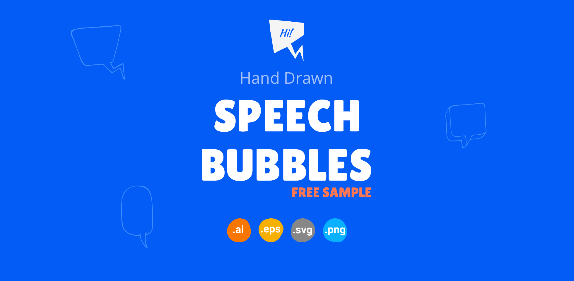 Free Download: Hand Drawn Speech Bubbles