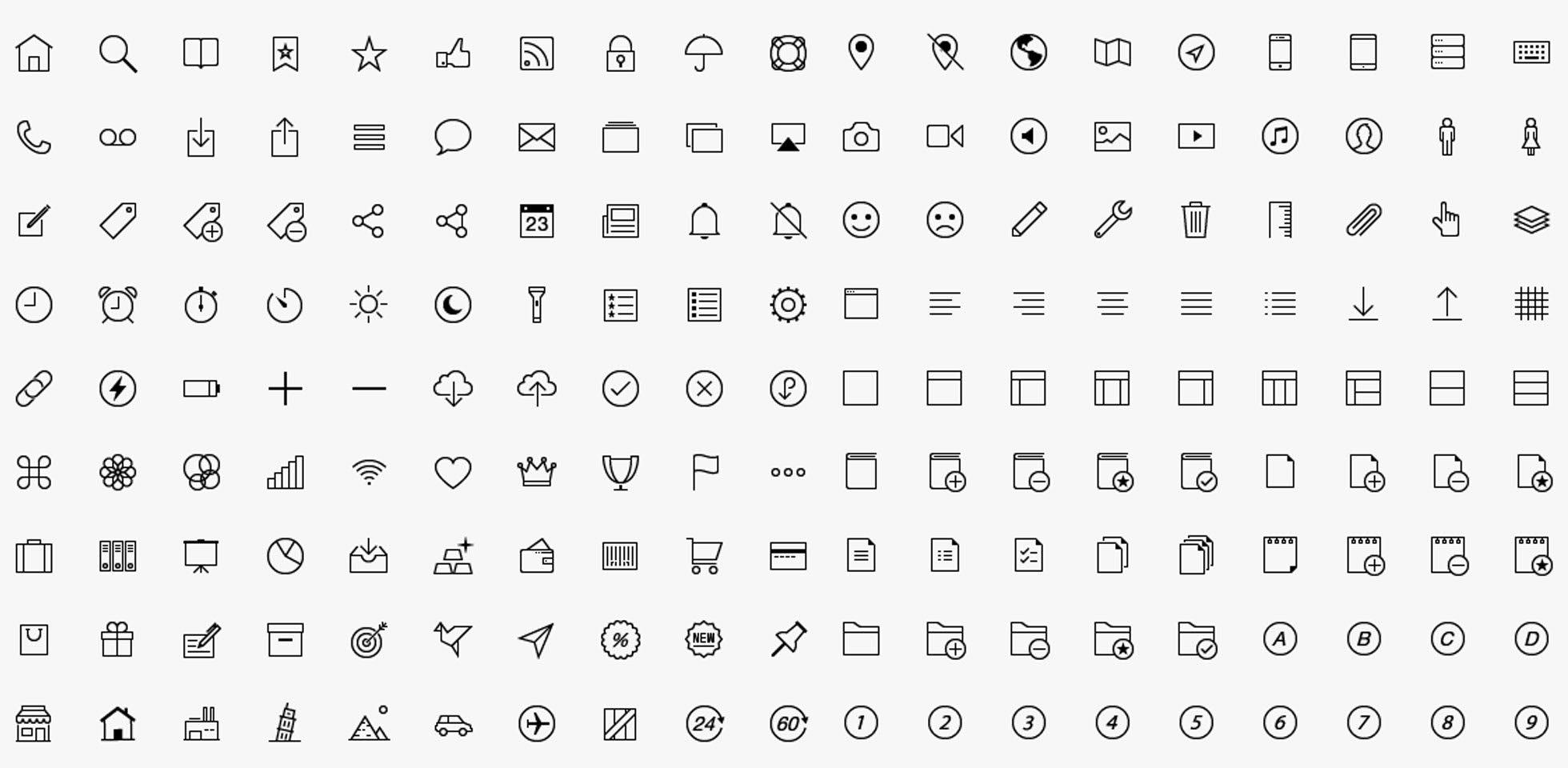 Free Download: 300 iOS Tab Bar Icons