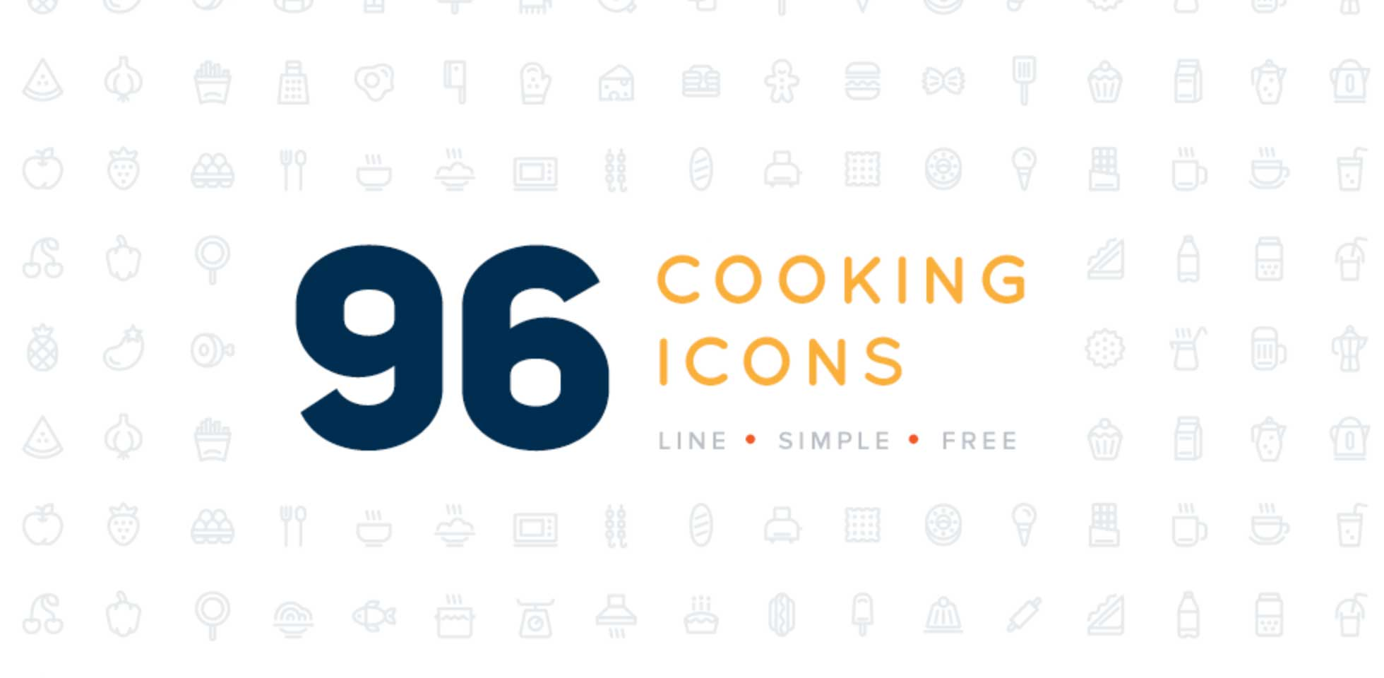 Free Download: 96 Cooking Icons