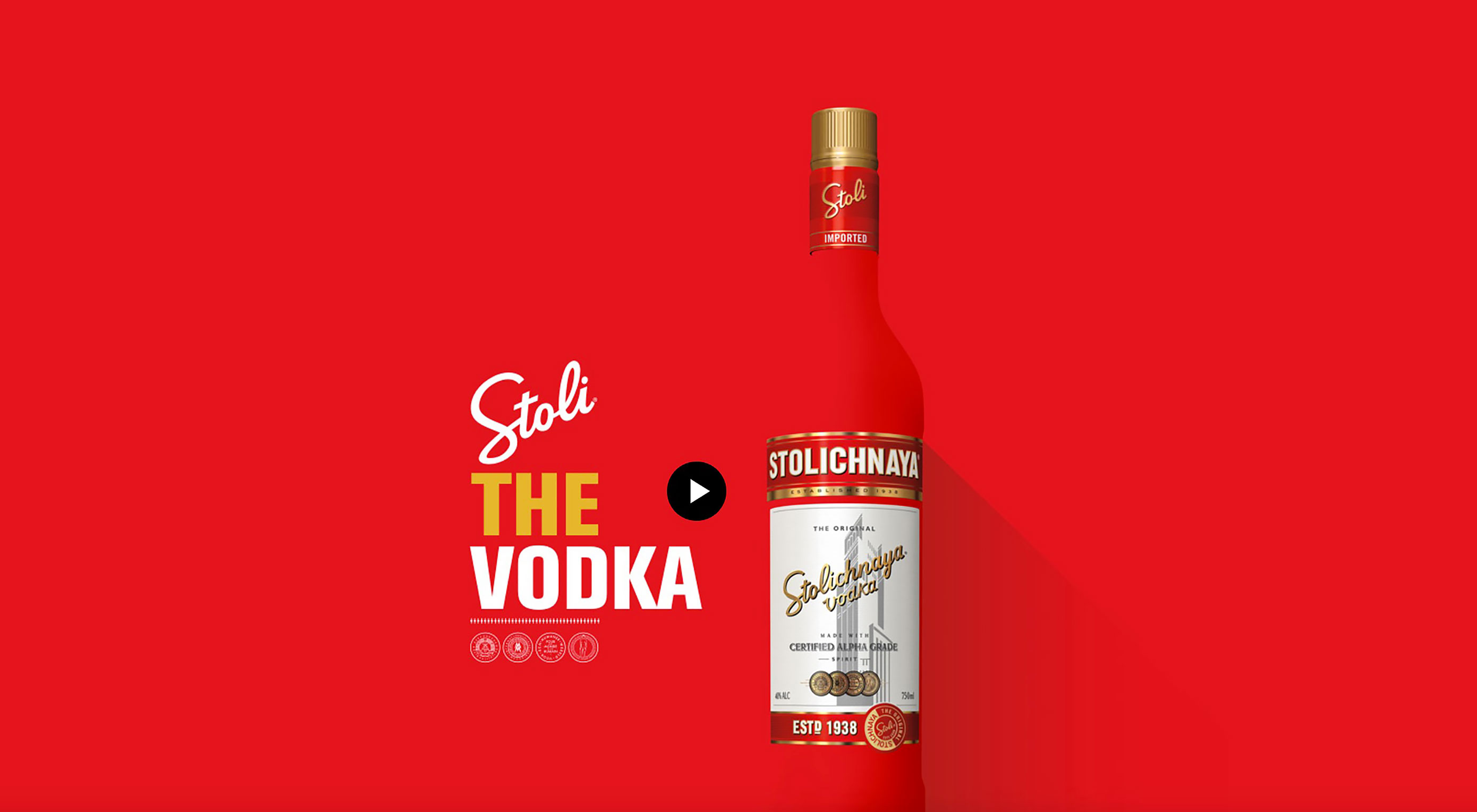 Stoli Vodka Redesigns Website With Pop Art Focus