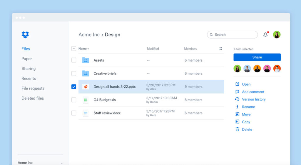 Dropbox Redesigns its UI for Better UX