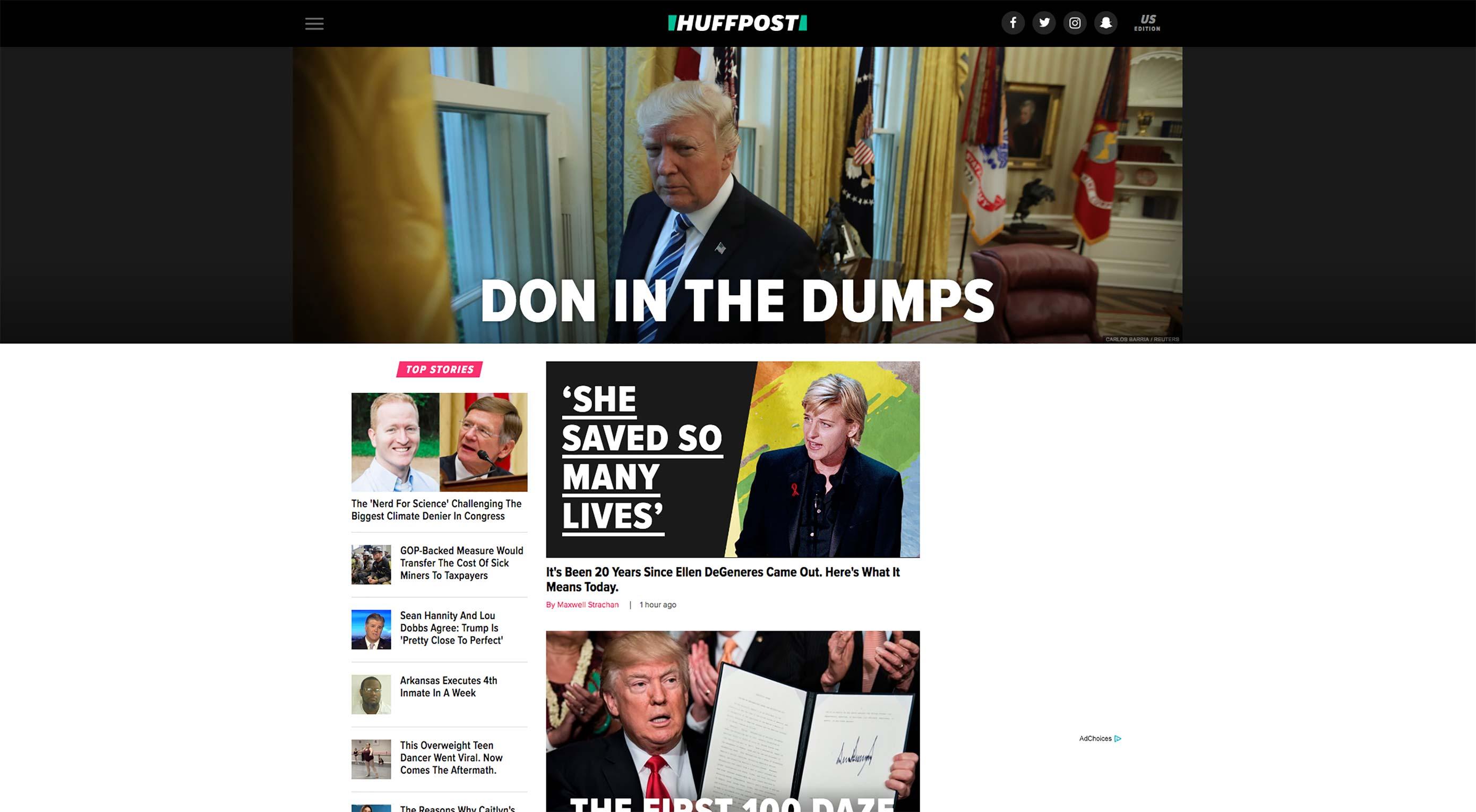Huffpost Unveils New Design