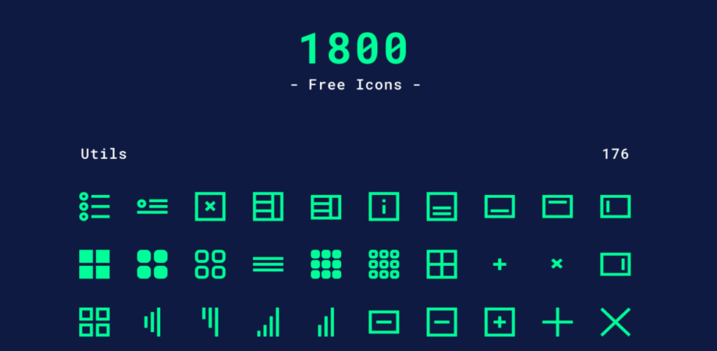 Free Download: 1800 Minimal Icons