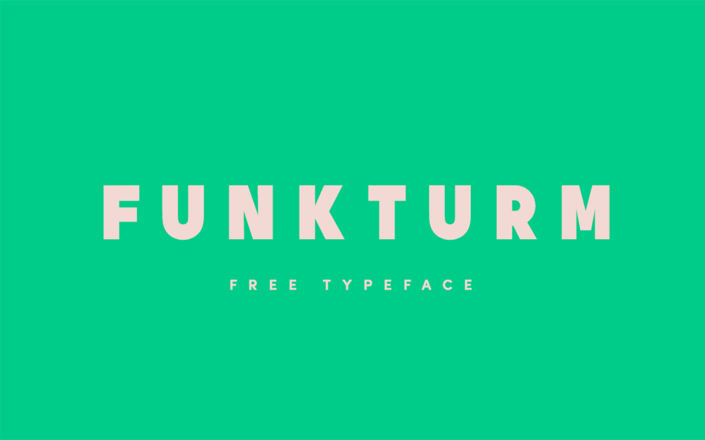 Free Download: Funkturm Typeface