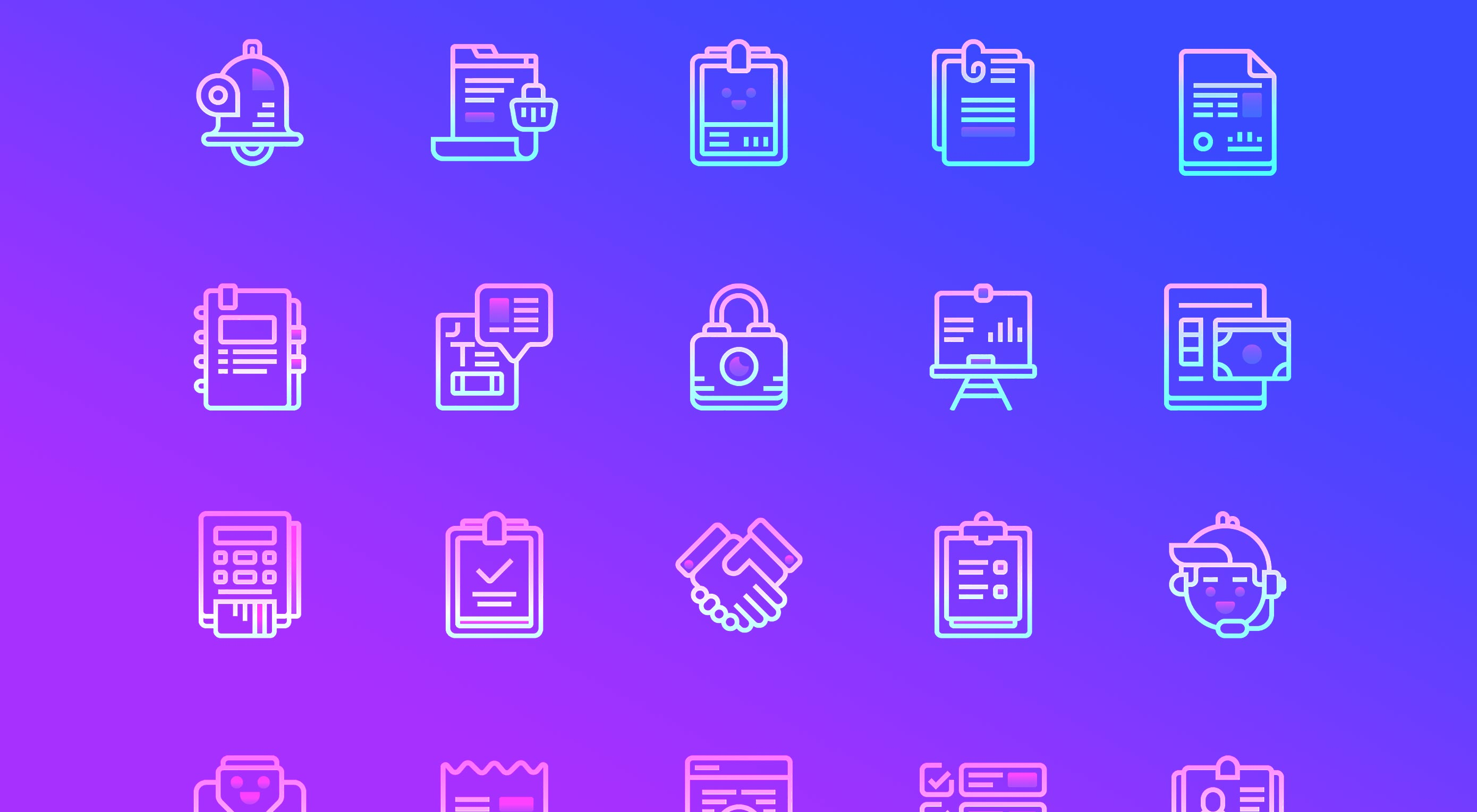 Free Download: 48 Nolan Business Icons by Icons8
