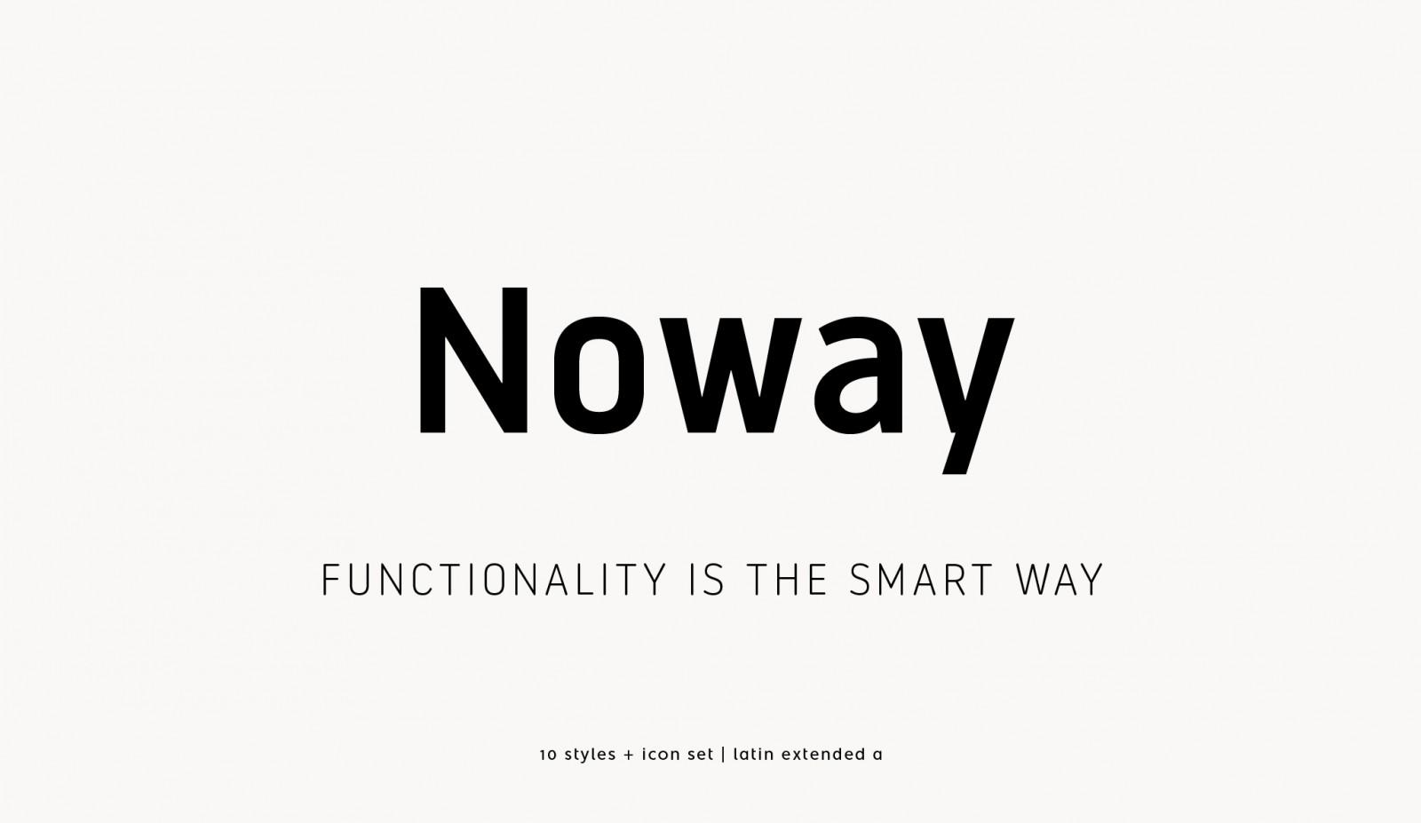 Free Download: Noway Regular & Italic