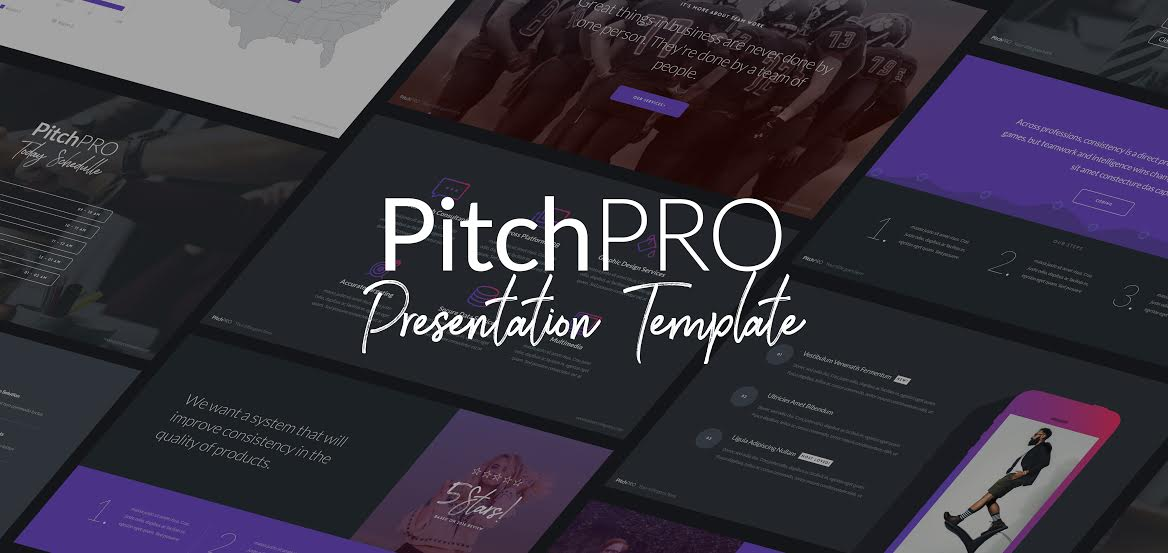 Free Download: PitchPRO Presentation Template with 50 Fully Editable Slides