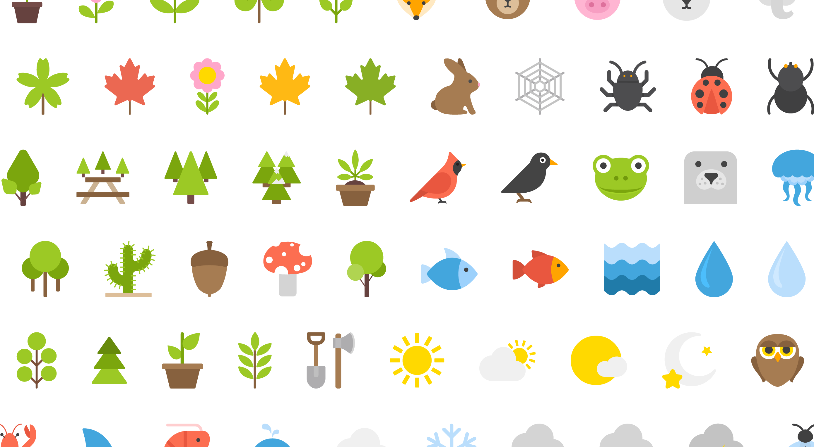 Free Download: 100 Nature Icons by Vecteezy