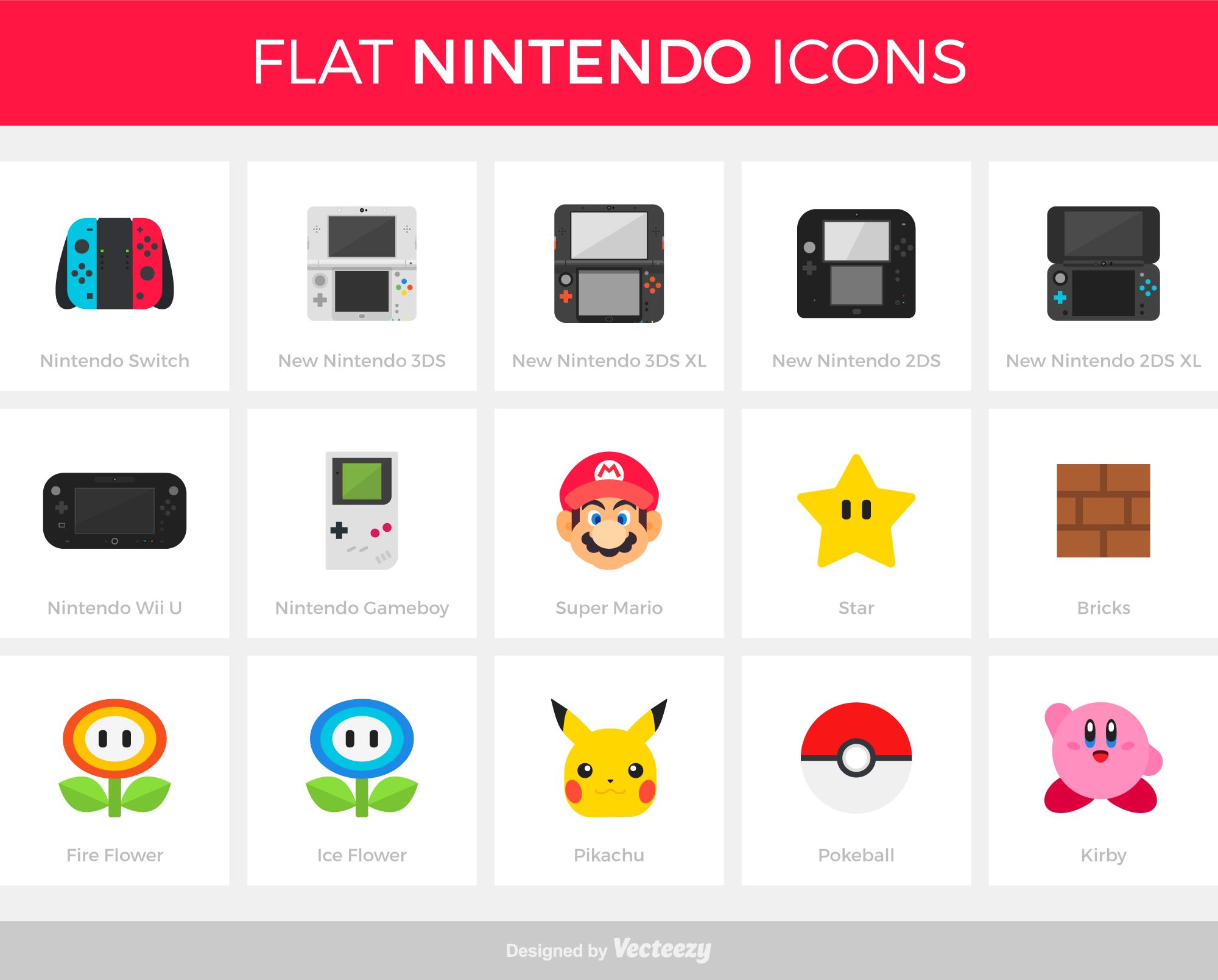 Free Download: Flat Nintendo Icons