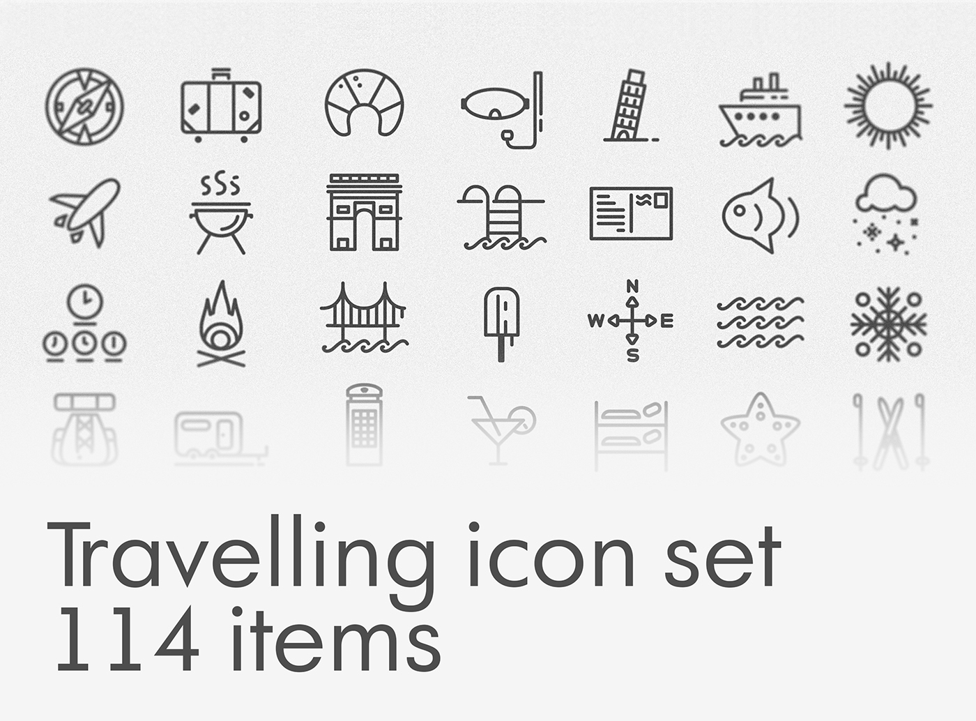 Free Download: Travelling Icon Set