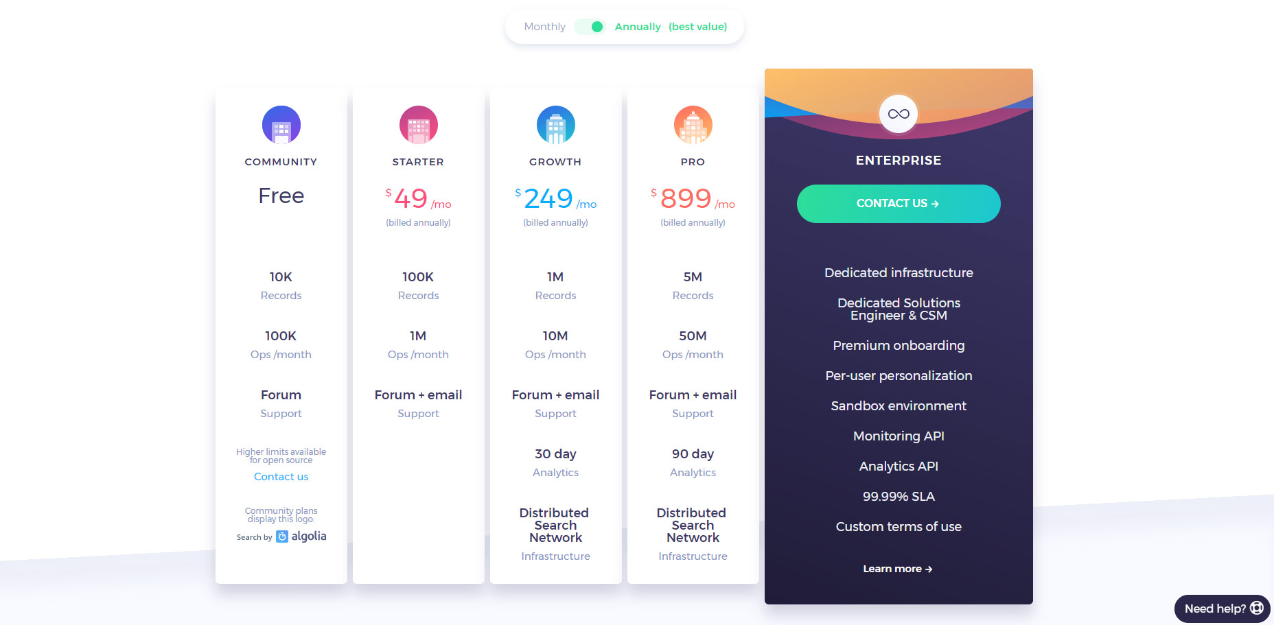 01-algolia-search-saas-pricing-table