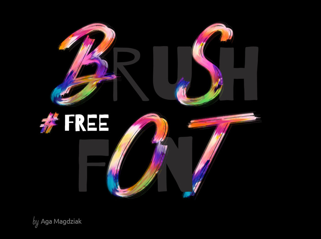 Free Download: Brush Font