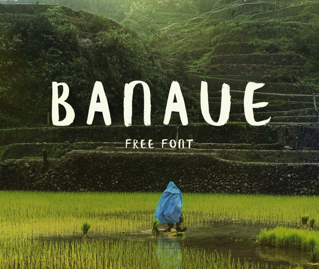 Free Download: Banaue Brush Font