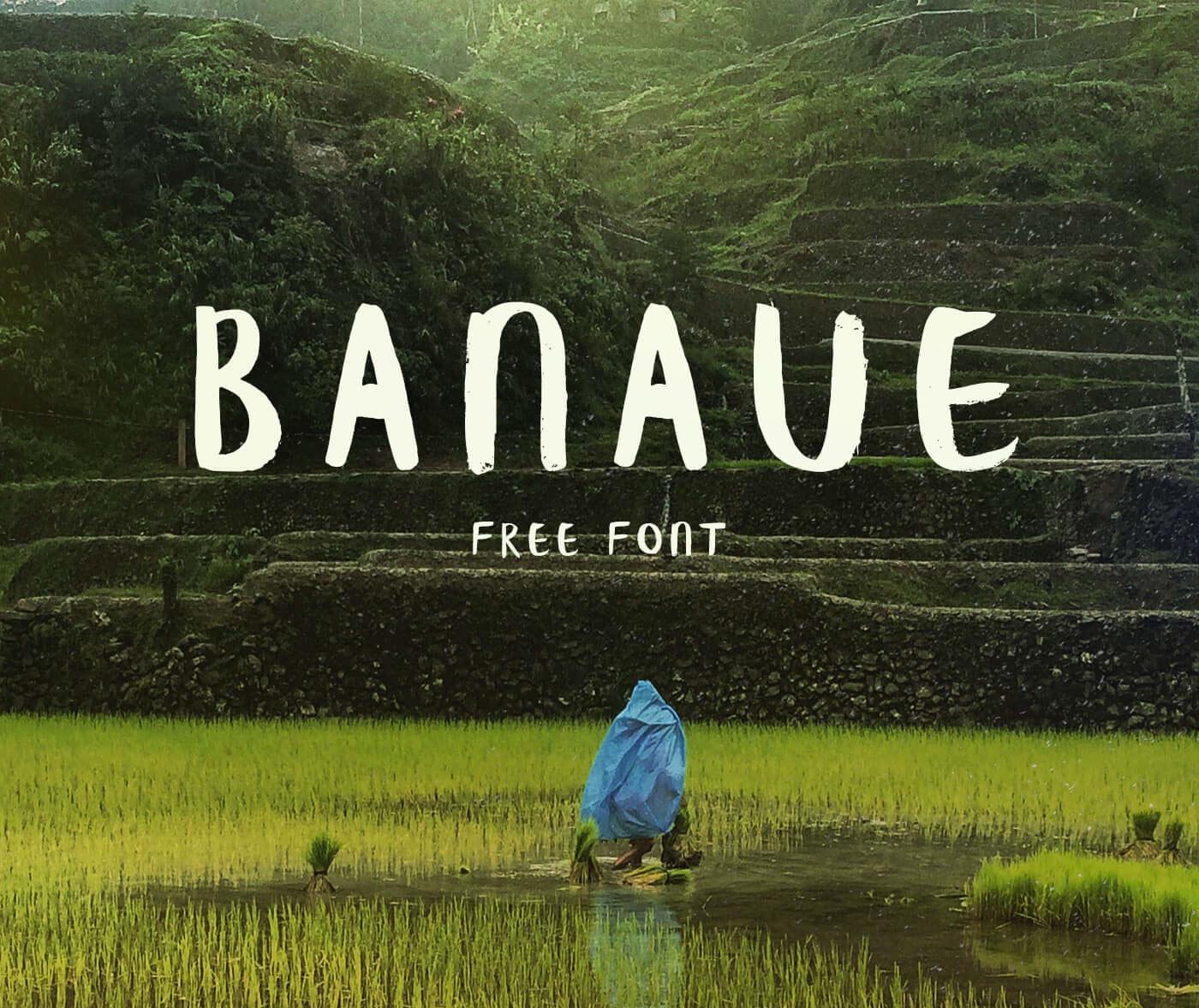 Free Download: Banaue Brush Font