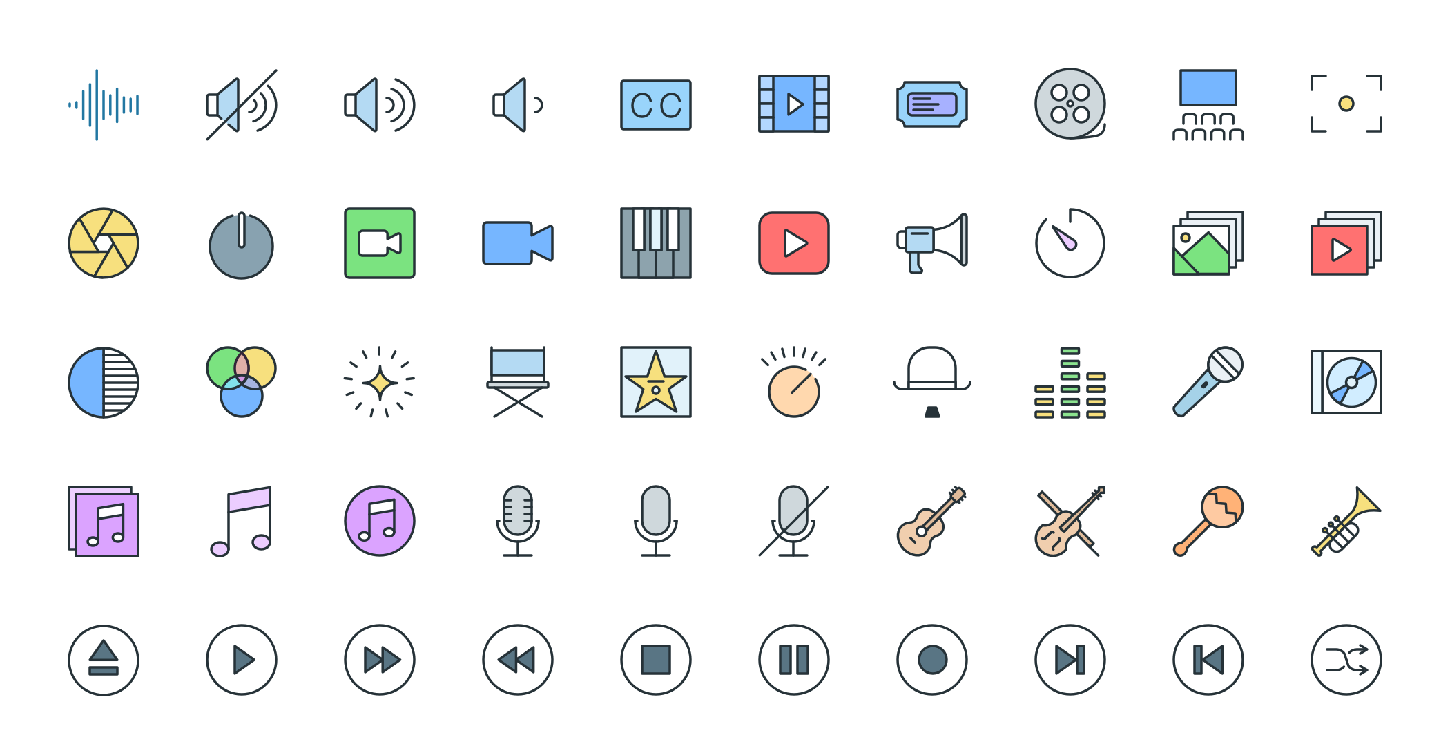 Free Download: Multimedia Pioneer Icons