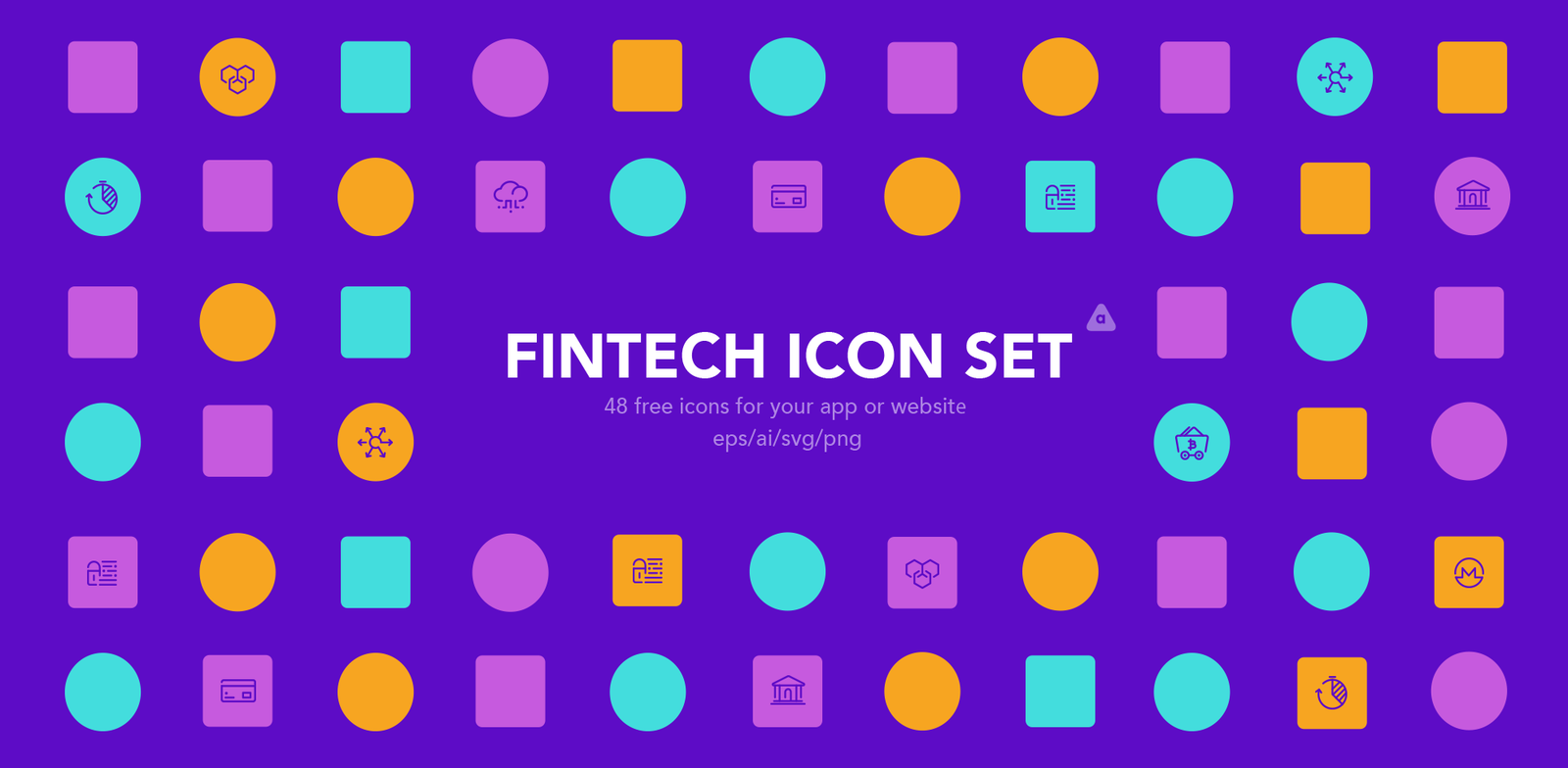 Free Download: Fintech Icon Set