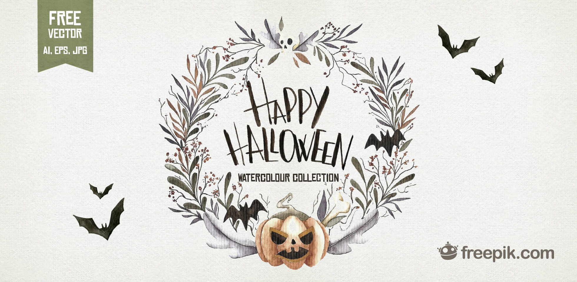 Free Download: Watercolor Halloween Set