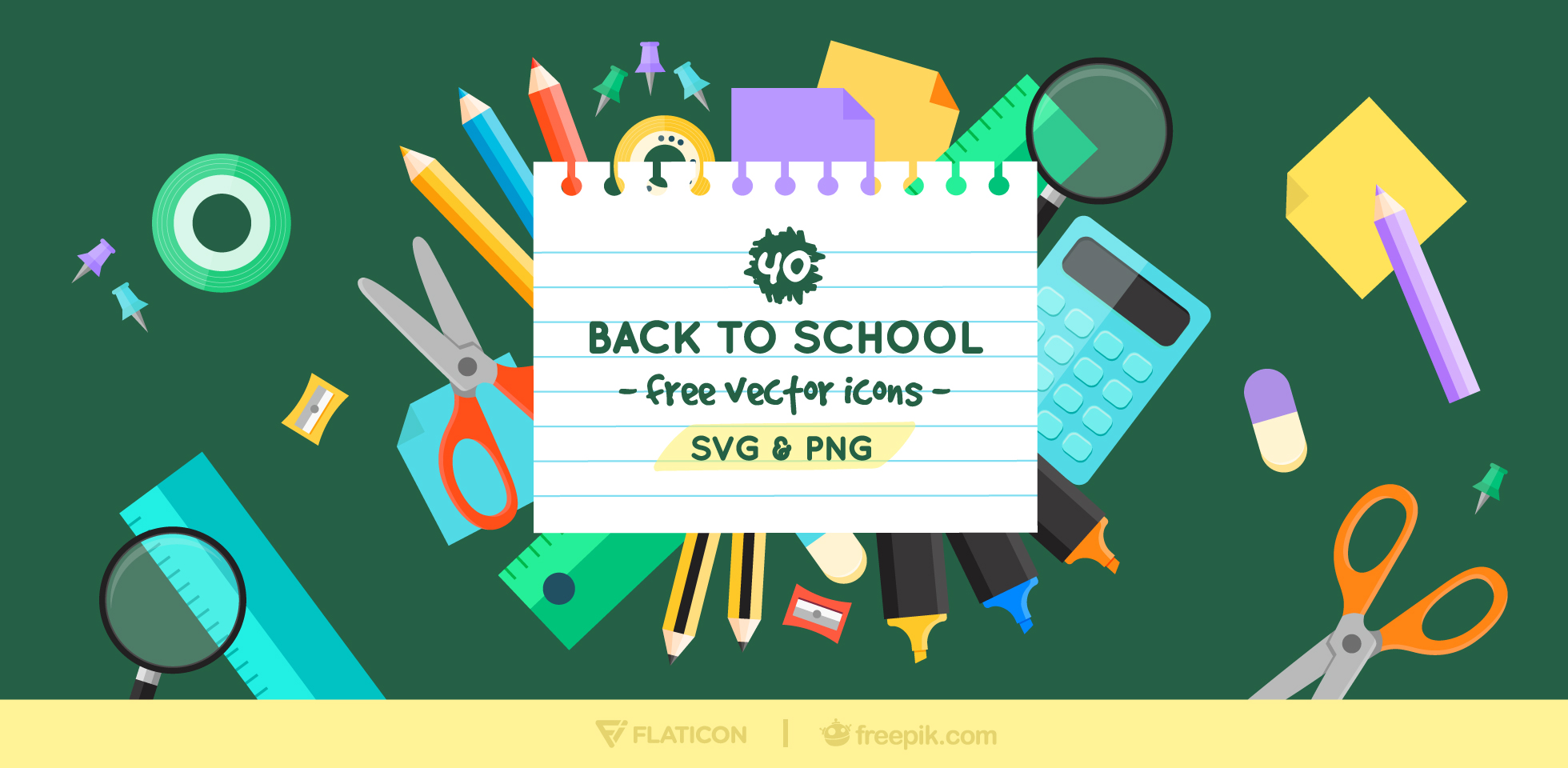 Free Download: Back to School Icon Set