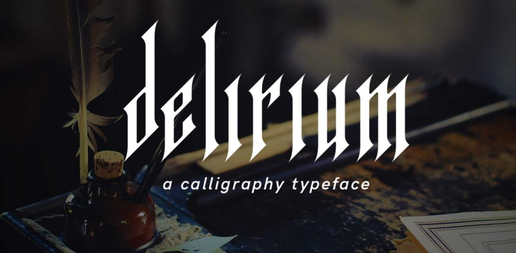Free Download: Delirium Typeface