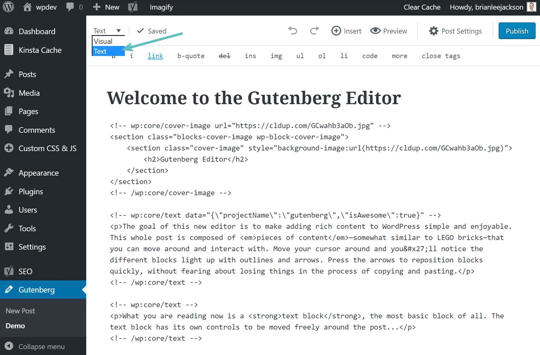 gutenberg-text-editor