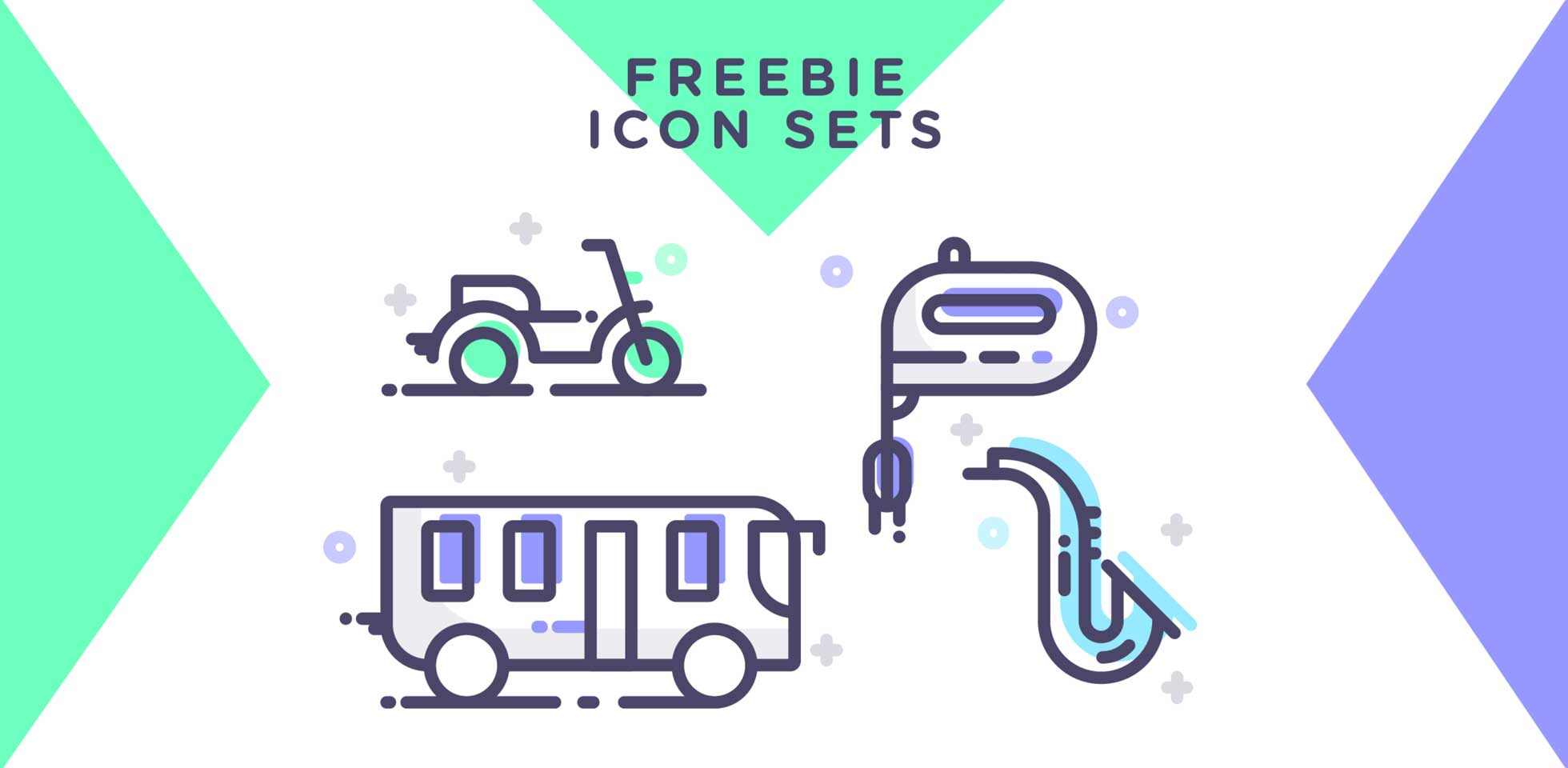 Free Download: Travel, Music & Kitchen Icon Set