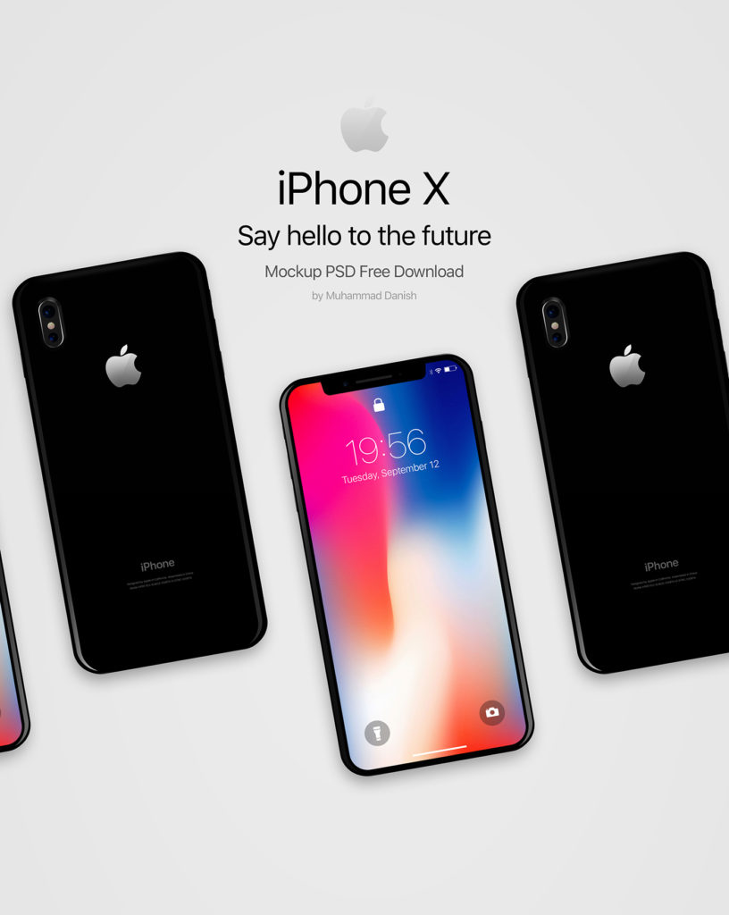 Free Download: iPhone X Mockup PSD