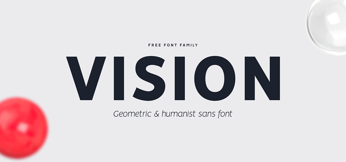 Free Download: Vision Family of 12 Fonts