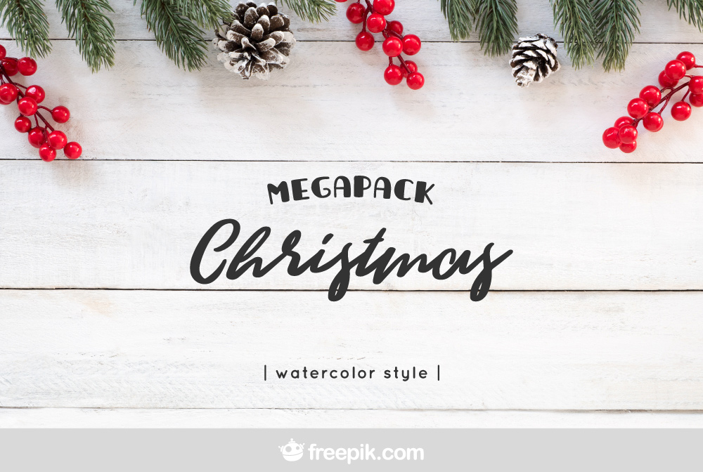 Free Download: Watercolor Christmas