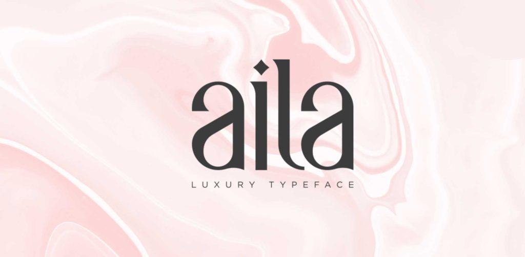 Free Download: Aila Font | Webdesigner Depot