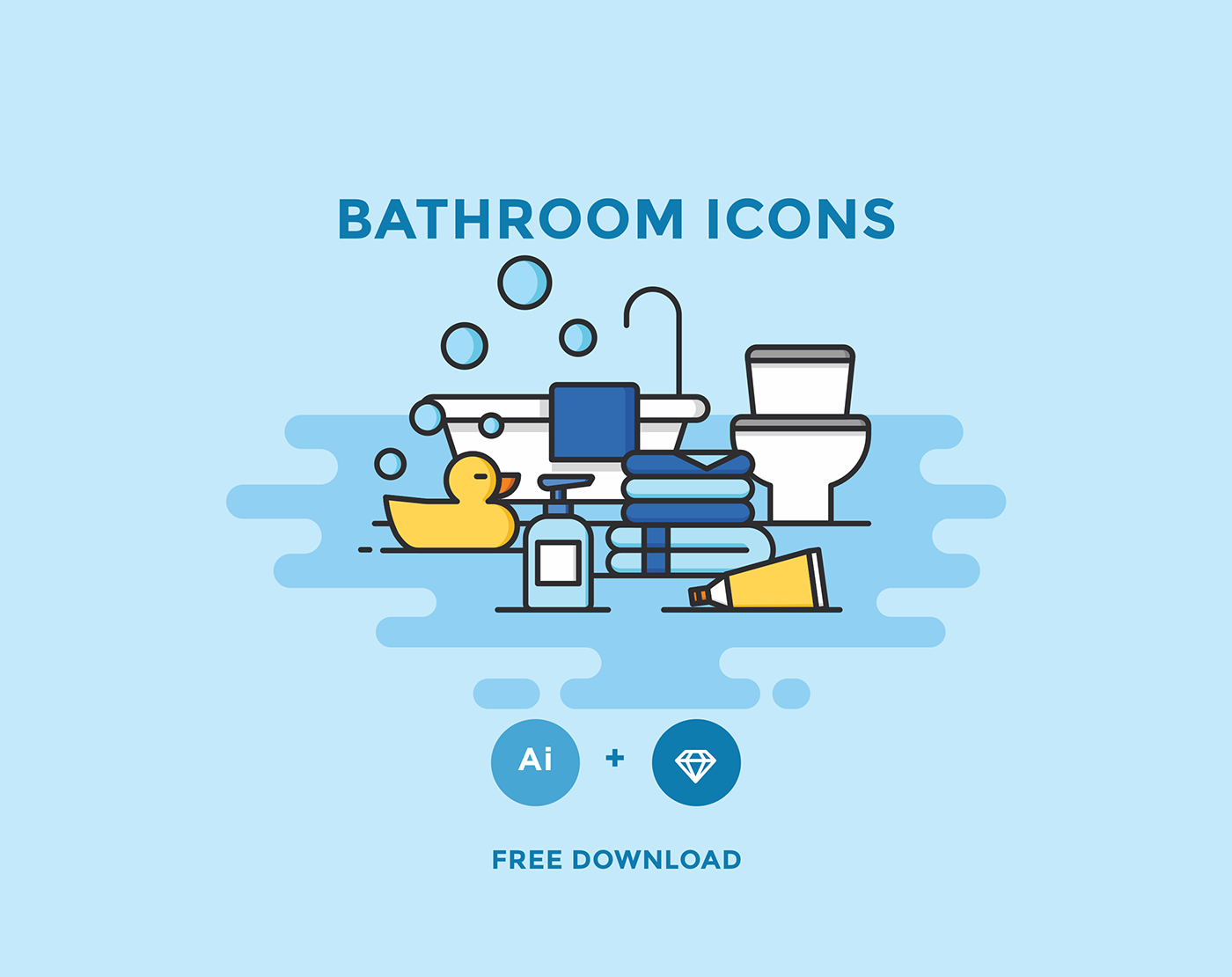 Free Download: Bathroom Icons