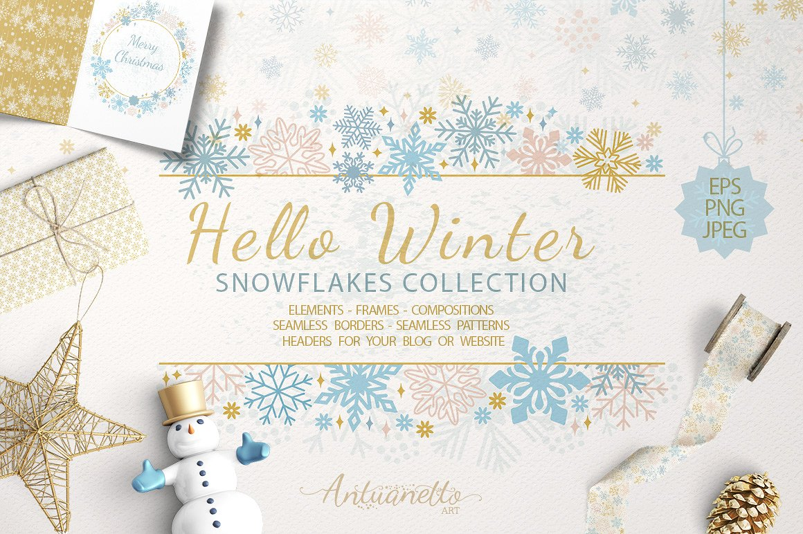 Free Download: Sparkling Snowflakes Collection