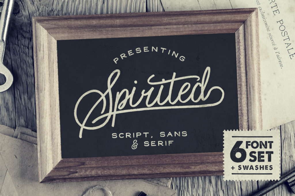 Free Download: Spirited Font Set